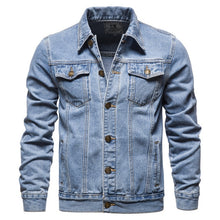 Load image into Gallery viewer, Cotton Denim Jacket  Slim