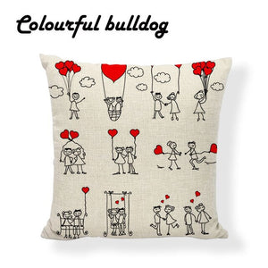 Printed San Valentin Pillows