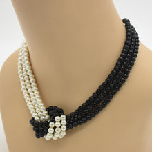 Load image into Gallery viewer, Grey & White Pearl Necklace