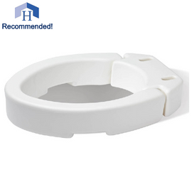 "3.5"" Elongated Raised Toilet Seat"