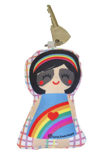 Mini Doll Keychain Rainbow