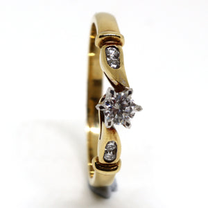 Intricate diamond anniversary ring