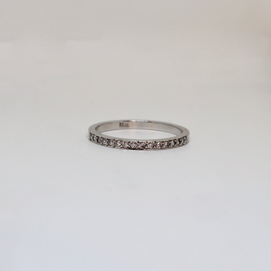 16 Stone Diamond grain set ring