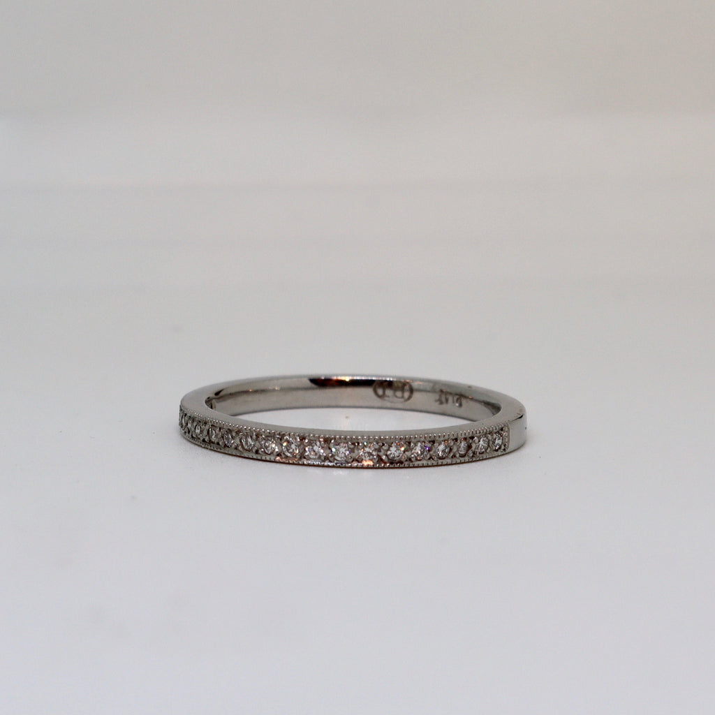 20 Stone Diamond Millgrain Ring