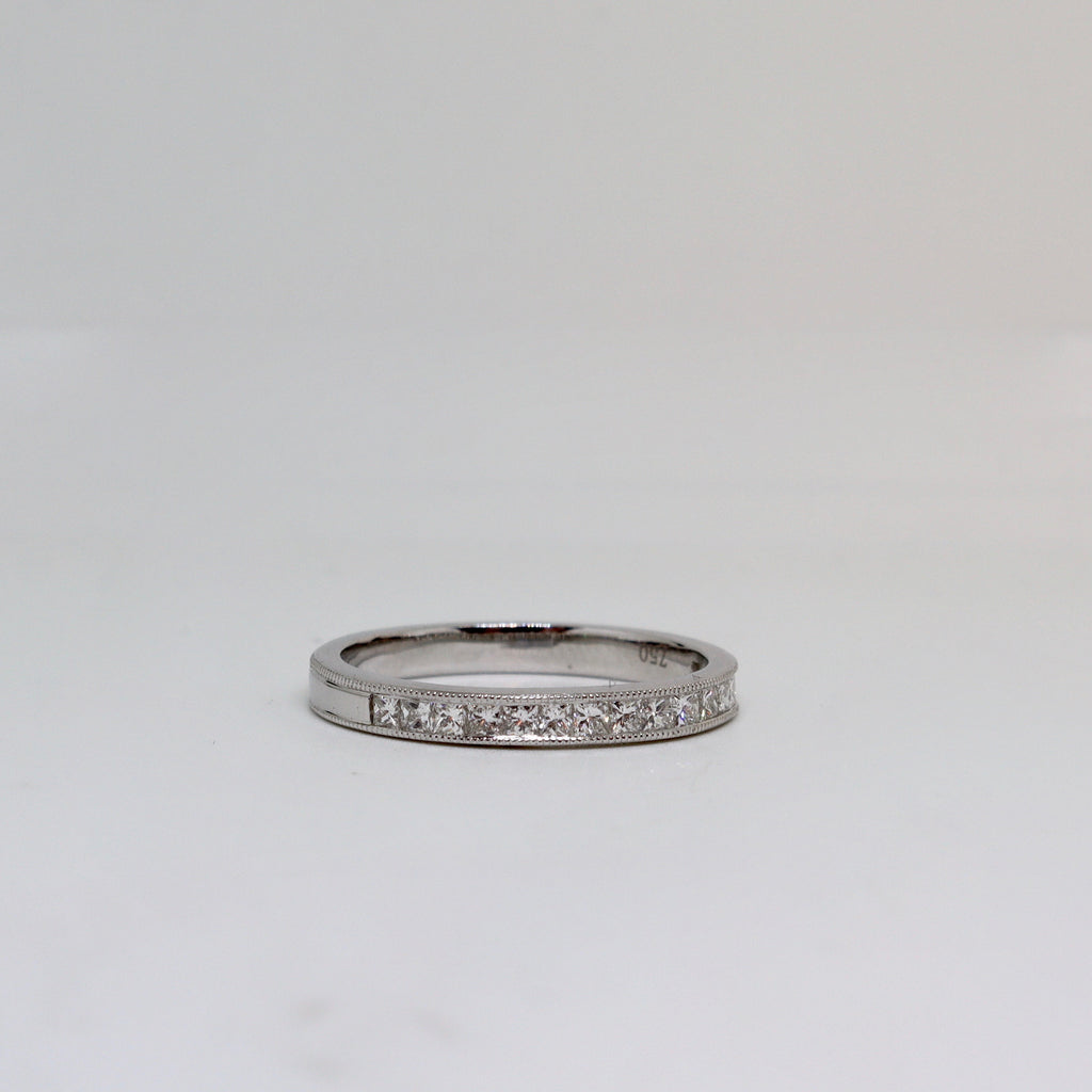 16 Stone Diamond Channel Set Ring