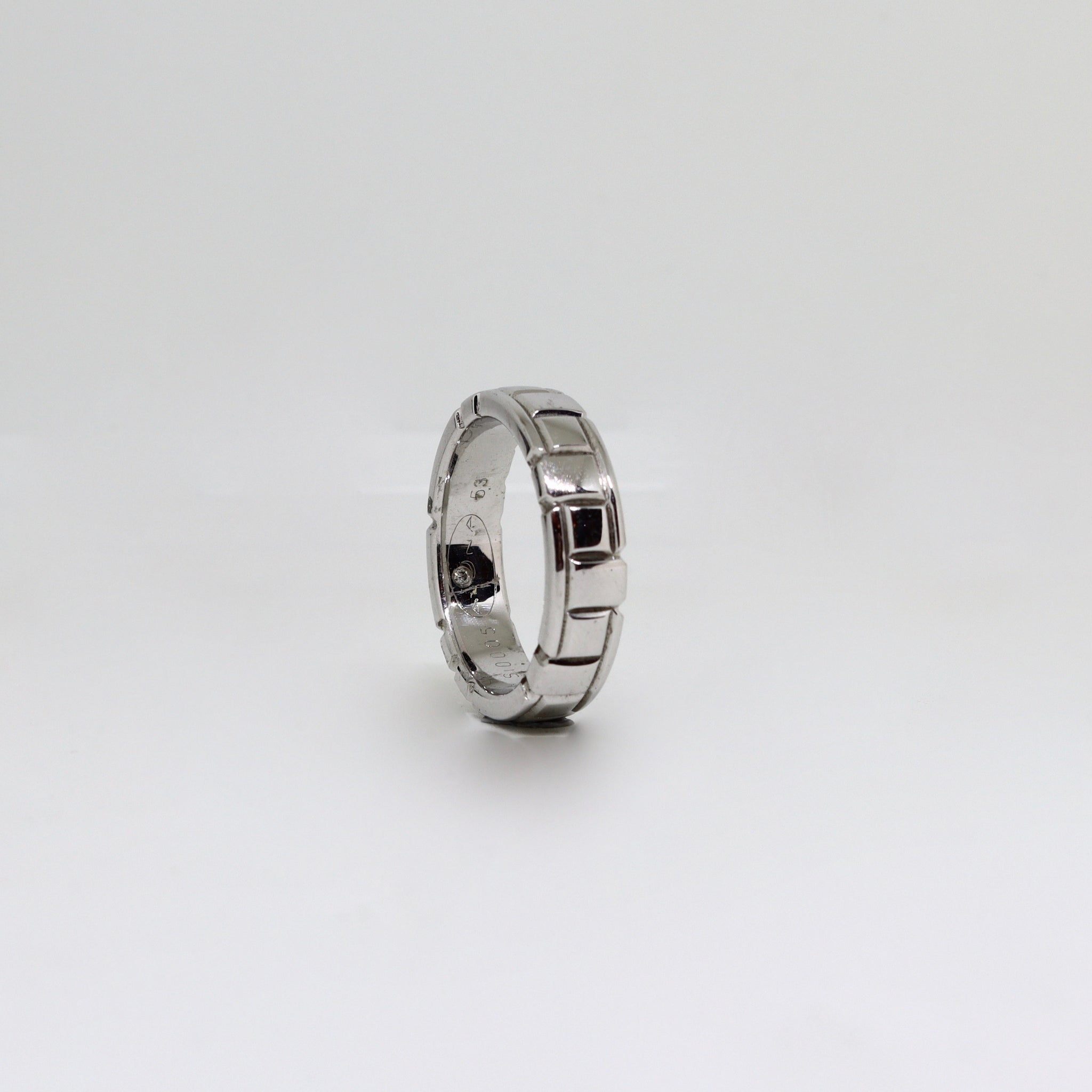 White gold polished finished geometric style womens ring