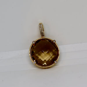 Lemon Citrine and diamond enhancer