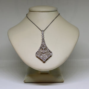 Art deco style Diamond drop necklace