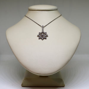Diamond snow flake necklace
