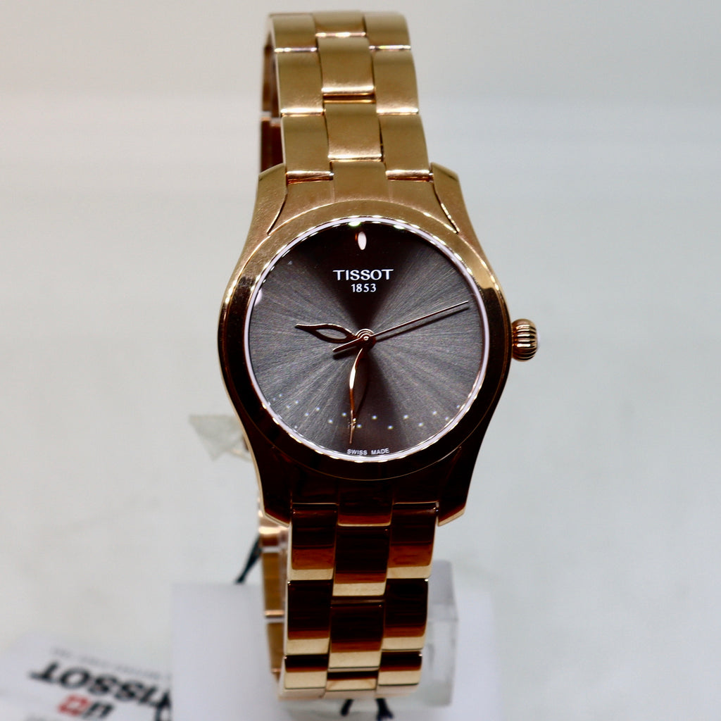 Tissot Grey face and rose gold womens watch