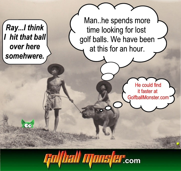 Finding Golf Balls at Golfball Monster saves you TIME