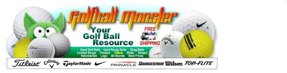 Used Golf Balls from Golfball Monster