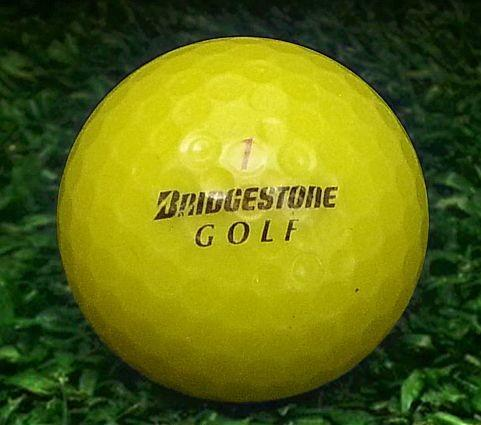 Bridgestone Number 6 Used Golf Balls Yellow Mint Grade