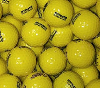 Strata Limited Flight Yellow Used Golf Balls A-B Grade (4509323427922) (4934856605778)