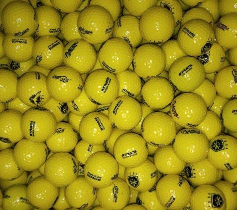 Strata Limited Flight Yellow Used Golf Balls A-B Grade