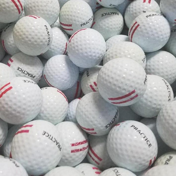 Range Red Stripe Used Golf Balls A-B Grade (4514844803154)