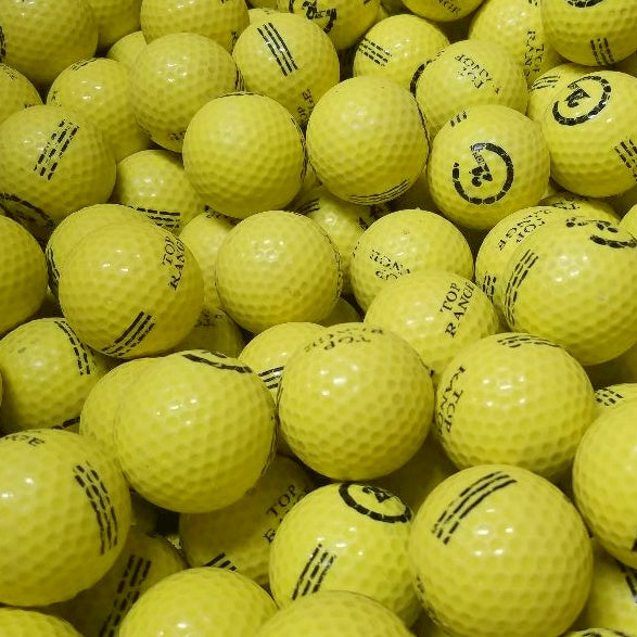 Practice LOGO Yellow Used Golf Balls B Grade ( (4474750042194)