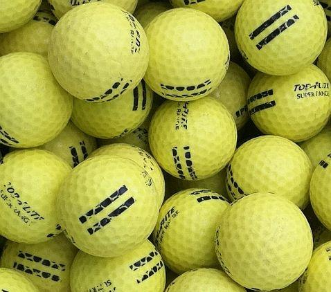 Range Practice Yellow Used Golf Balls C Grade