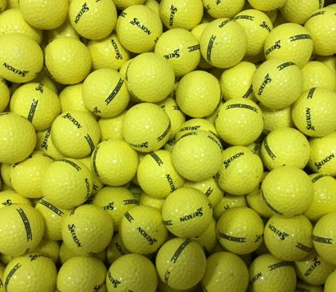 Srixon Yellow Used Golf Balls A-B Grade (4509318611026)