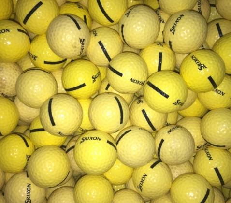 Srixon Limited Flight Yellow Used Golf Balls A-B Grade (4512727695442)