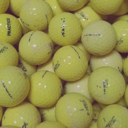 Titleist Tour Practice/NXT Yellow Used Range Golf Balls D Grade (4783716466770)