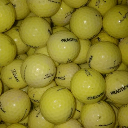 Titleist NXT Tour Practice Yellow Used Golf Balls C Grade (4474775306322)