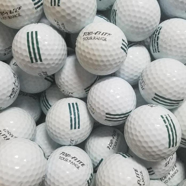 Top Flight Green Practice Used Golf Balls A-B Grade