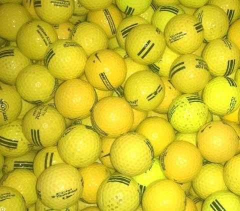 Range Practice Yellow Used Golf Balls A-B Grade (4509308387410) (4717057966162)