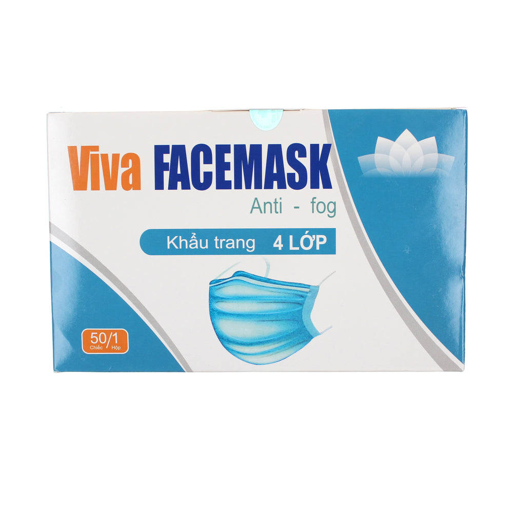 Viva 4-ply Disposable Masks 50pk