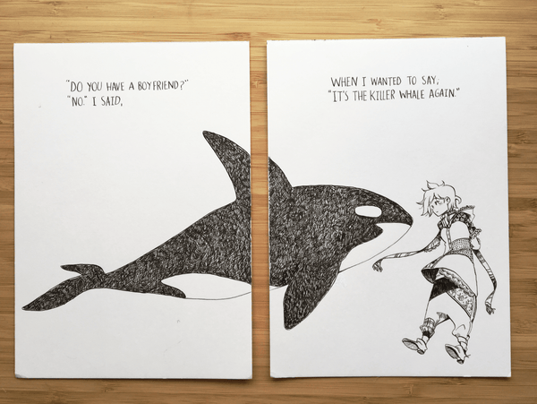 A killer whale's girlfriend