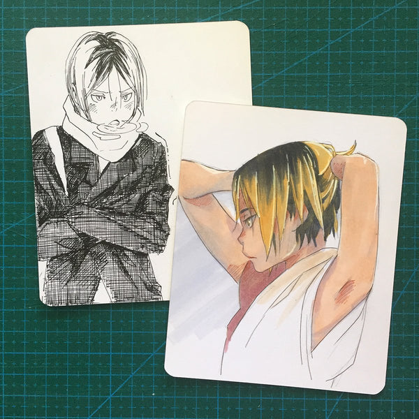 "<b><font color=""red"">[SOLD] </font></b> 2 Kozume Kenma Sketchcards"