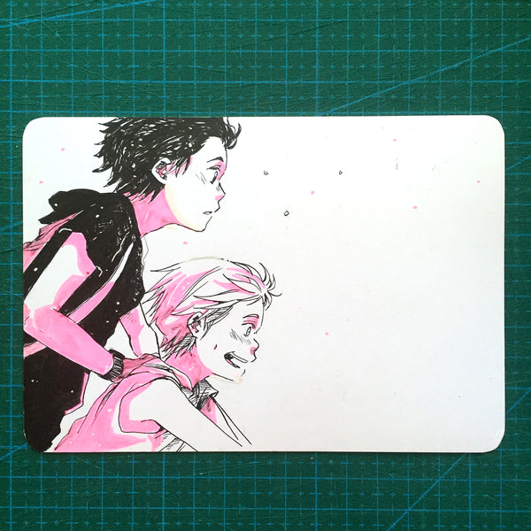 "<b><font color=""red"">[SOLD] </font></b> On Bicycle Sketchcard"