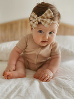 Load image into Gallery viewer, Caramel Gingham Headband (4676269867095)