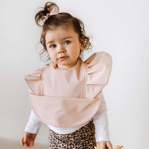 Snuggle Bib Waterproof - Nude