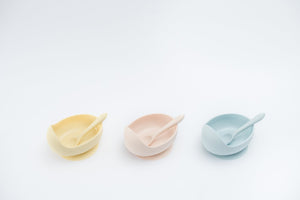 Wild Silicone Bowl Set - Duck Egg Blue