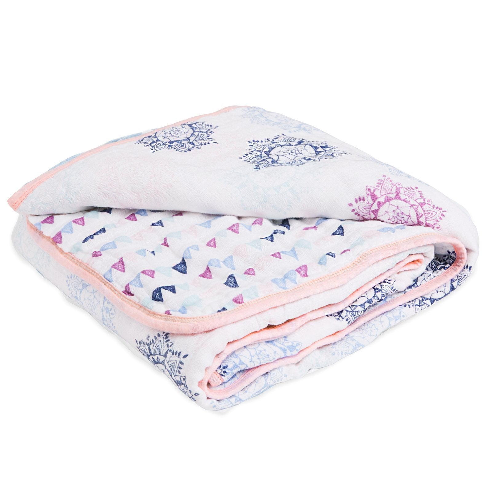 aden by aden + anais: pretty pink large classic muslin dream blanket