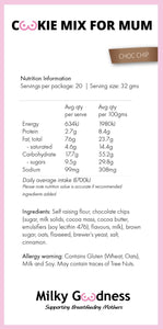 Chocolate Chip Lactation Cookie Packet Mix