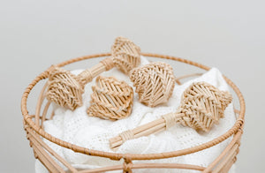 *PRE-ORDER LATE JAN* Rattan Double Maraca