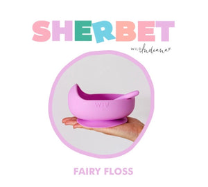 Silicone Suction Bowl Set - Fairy Floss