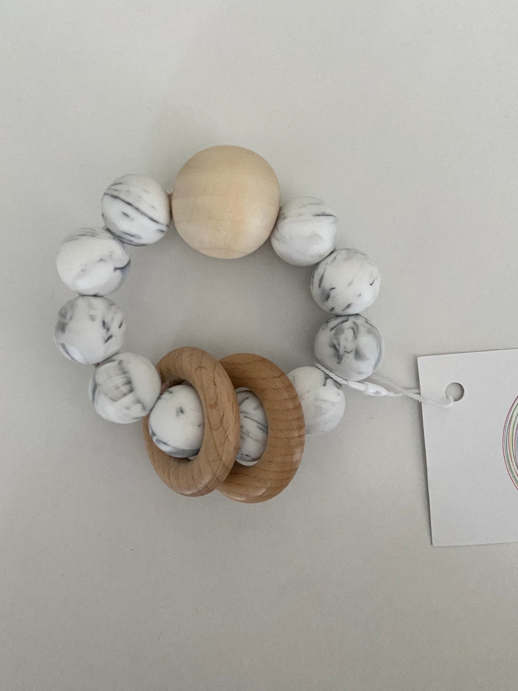 Teether Ring - Marble (4557588103255)