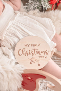 My First Christmas 2020 Plaque