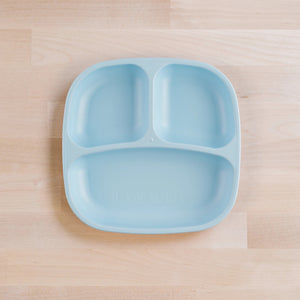 "7"" Divided Plate - Ice Blue"