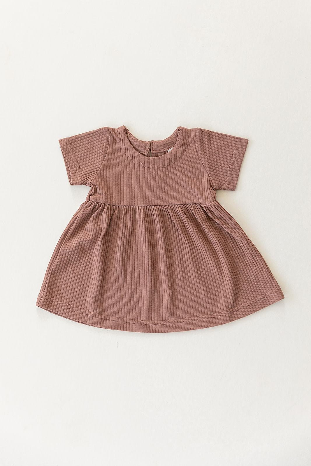Ribbed Dress - Dusty Rose