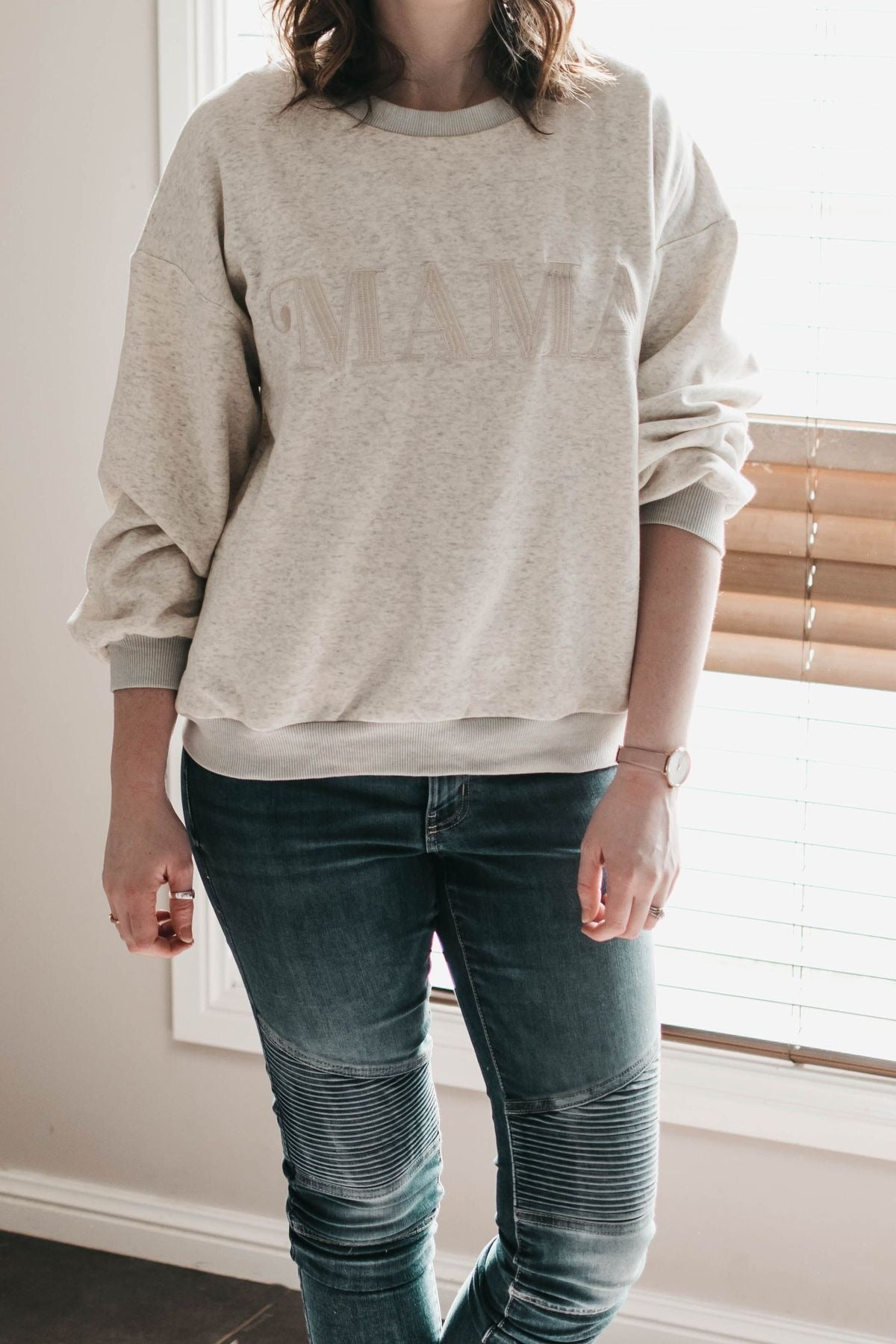 Mama Jumper - Grey Marle