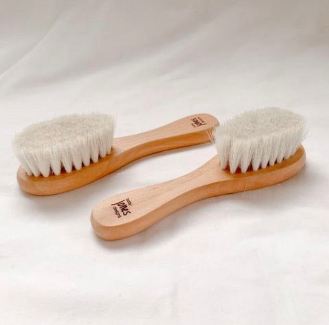 Goat Hair Wooden Baby Brush