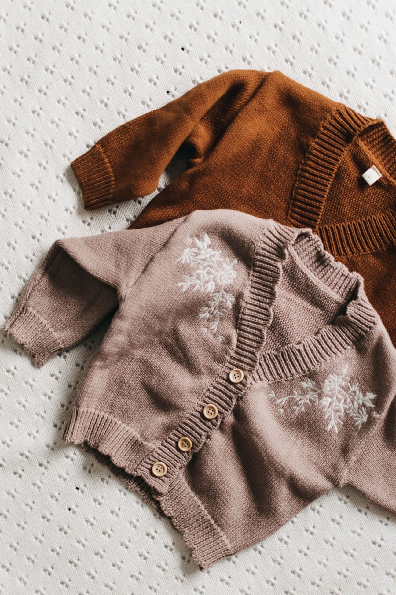 Knit Cardy - Rust