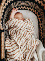 Load image into Gallery viewer, Organic Cotton + Bamboo Muslin Swaddle - Ochre