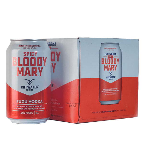 Cutwater Spicy Bloody Mary Cocktail 4 Pack-12oz - Nestor Liquor