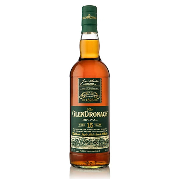 Glendronach Revival 15 Year Highland Single Malt Scotch Whiskey - Nestor Liquor