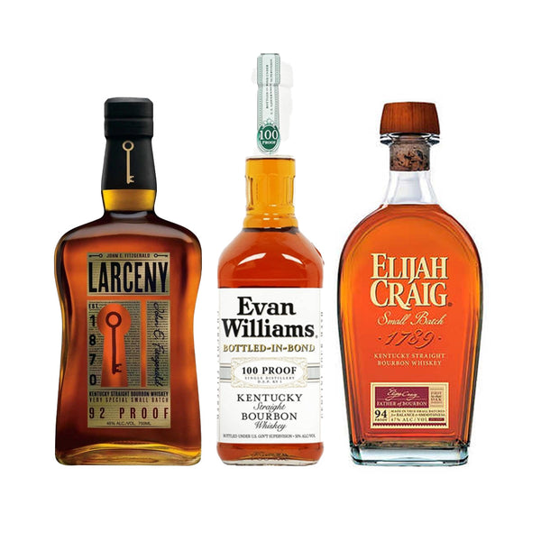 Larceny Small Batch+Elijah Craig Small Batch+Evan Williams Bottled in Bond Special - Nestor Liquor